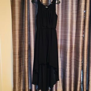 High low ruched dress